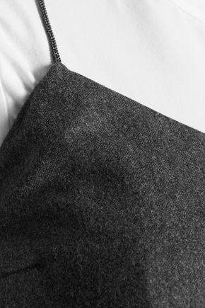 BRUNELLO CUCINELLI Layered wool, silk and cashmere-blend dress