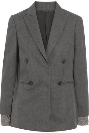 BRUNELLO CUCINELLI Embellished woven jacket