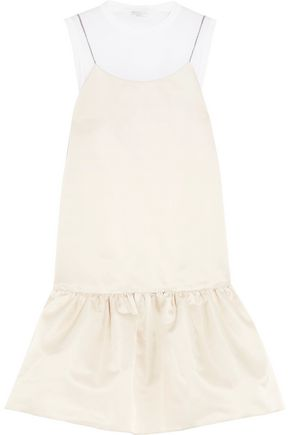 BRUNELLO CUCINELLI Pleated satin mini dress
