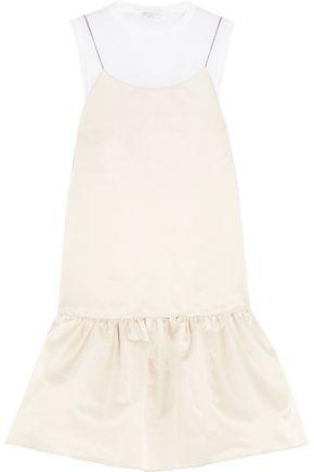 BRUNELLO CUCINELLI Pleated satin mini dress