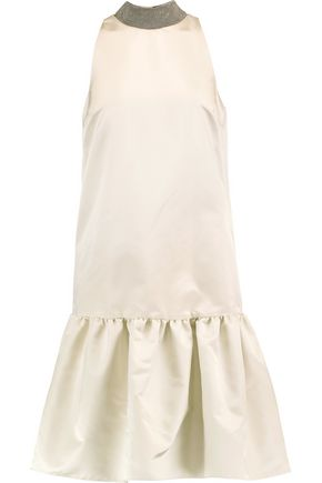 BRUNELLO CUCINELLI Bead-embellished satin dress