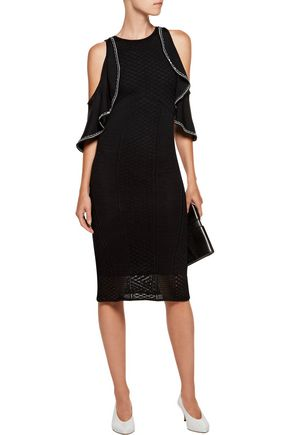 SACHIN & BABI Jody cold-shoulder crochet-knit dress