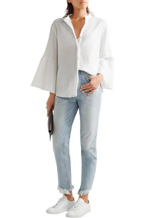M.I.H JEANS Goldie cotton-cheesecloth blouse