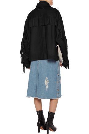 MM6 MAISON MARGIELA Fringed wool-blend felt jacket