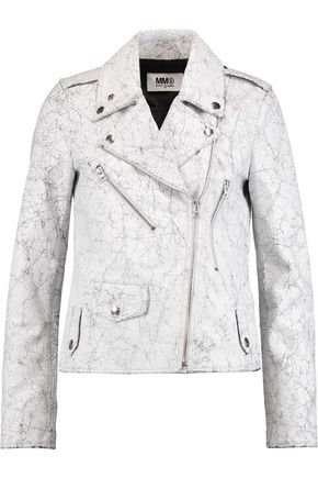 MM6 MAISON MARGIELA Cracked-leather biker jacket