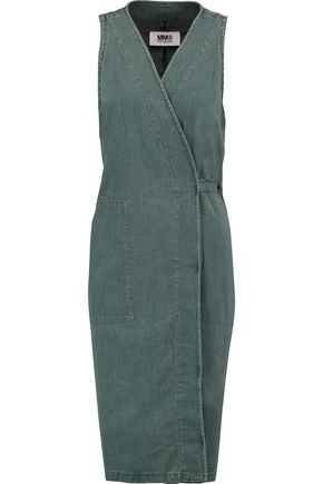 MM6 MAISON MARGIELA Denim wrap dress