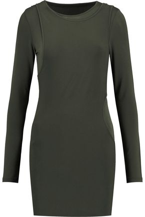 MM6 MAISON MARGIELA Layered stretch-jersey mini dress