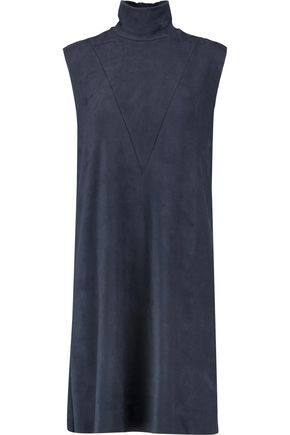 MM6 by MAISON MARGIELA Faux stretch-suede turtleneck dress