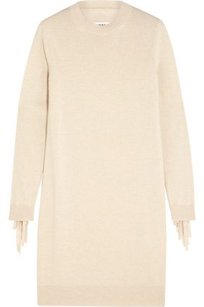 MM6 MAISON MARGIELA Fringed stretch-knit dress