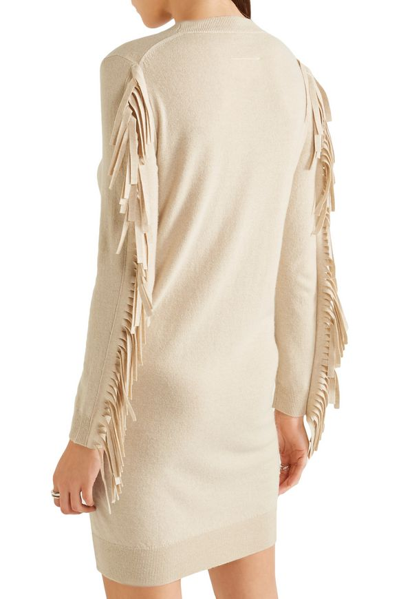 Fringed stretch-knit dress | MM6 by MAISON MARGIELA | Sale up to 70% off |  THE OUTNET