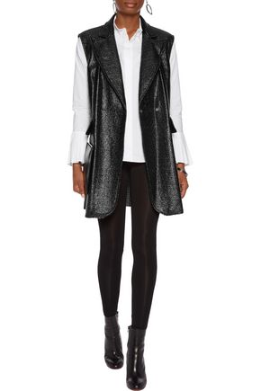 MM6 by MAISON MARGIELA Textured faux patent-leather vest