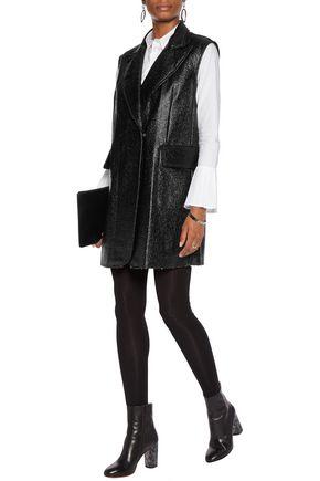 MM6 by MAISON MARGIELA Textured faux patent-leather vest