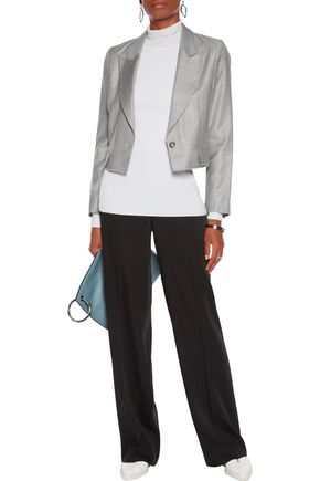 MM6 by MAISON MARGIELA Cropped wool-blend blazer