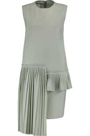 MM6 MAISON MARGIELA Pleated asymmetric wool dress