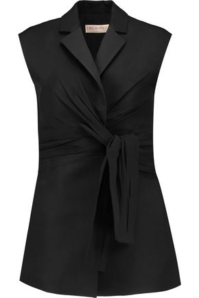 EMILIO PUCCI Ruched silk-crepe gilet