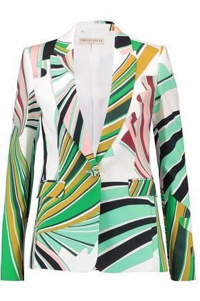 EMILIO PUCCI Printed stretch-twill blazer