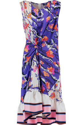 EMILIO PUCCI Knotted printed silk-georgette dress