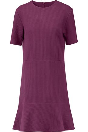 CARVEN Ribbed cotton-blend mini dress