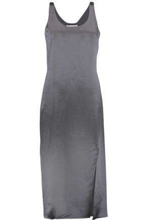 DIANE VON FURSTENBERG Lyla hammered-satin midi dress