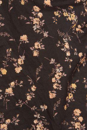 R13 Shirt-effect printed cotton dress