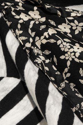 R13 Tank Overlay printed silk and cotton dress