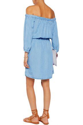 SPLENDID Off-the-shoulder chambray mini dress