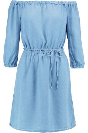 SPLENDID Off-the-shoulder chambray mini dress