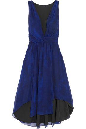 HAUTE HIPPIE Wrap-effect printed silk-crepe dress