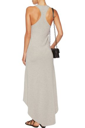 HAUTE HIPPIE Asymmetric stretch modal-blend mini dress