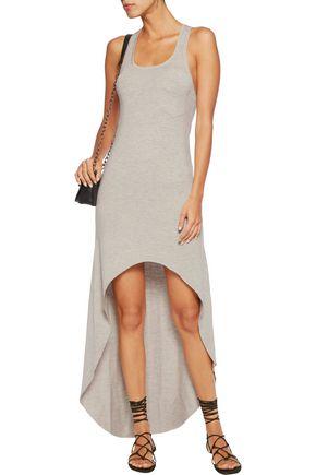 HAUTE HIPPIE Asymmetric stretch modal-blend mini dress