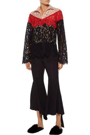 GOEN.J Color-block cotton-blend corded lace jacket