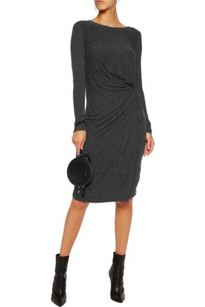 GANNI Gathered jersey dress