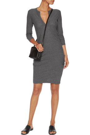 JAMES PERSE Cotton and wool-blend jersey dress