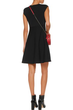 LOVE MOSCHINO Embellished stretch-knit dress