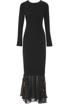 BY MALENE BIRGER Parsec embellished crepe and chiffon gown