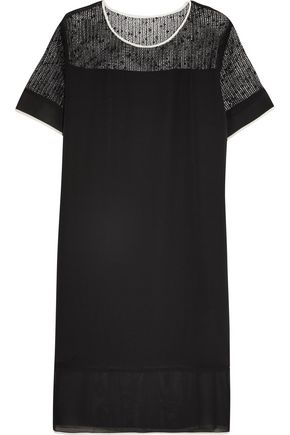 BY MALENE BIRGER Carona open-knit bouclé and silk dress