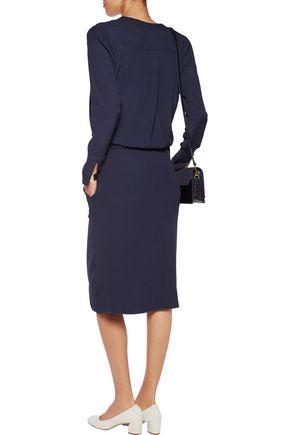 BY MALENE BIRGER Raya silk-trimmed crepe dress