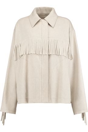 MM6 by MAISON MARGIELA Fringed wool-blend jacket