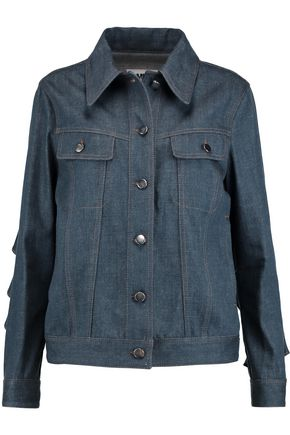 MM6 by MAISON MARGIELA Ruffled denim jacket