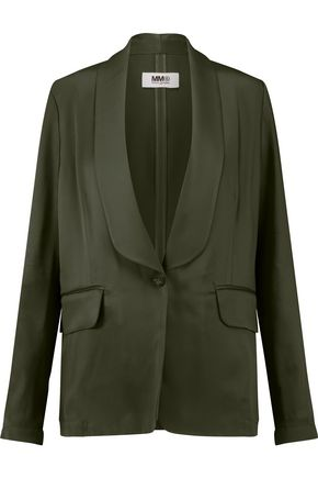 MM6 by MAISON MARGIELA Satin-crepe blazer
