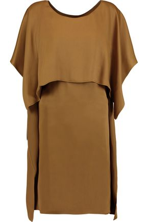 MM6 by MAISON MARGIELA Tiered satin-crepe dress