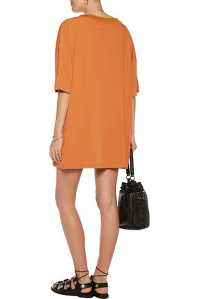 MM6 by MAISON MARGIELA Ruched crepe de chine mini dress