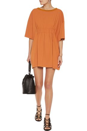 MM6 MAISON MARGIELA Gathered crepe mini dress
