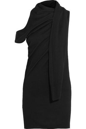MM6 by MAISON MARGIELA Cold-shoulder draped stretch-knit mini dress
