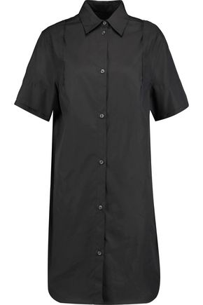 MM6 MAISON MARGIELA Stitch-detailed cotton-poplin shirt dress