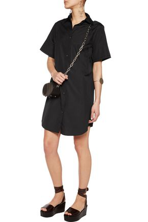 MM6 by MAISON MARGIELA Stitch-detailed cotton-poplin shirt dress