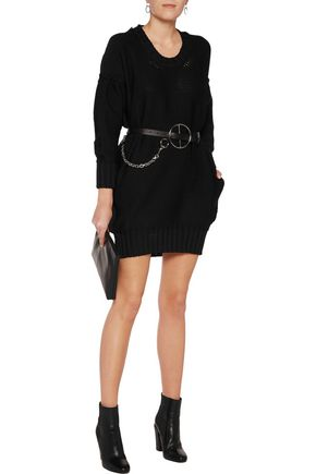 MM6 by MAISON MARGIELA Open-knit mini dress