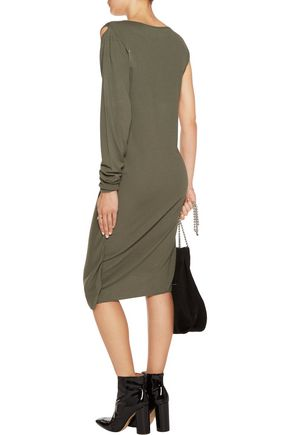 MM6 by MAISON MARGIELA One-shoulder gathered knitted dress