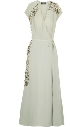 By Malene Birger Wynona Embellished Crepe De Chine Maxi Dress