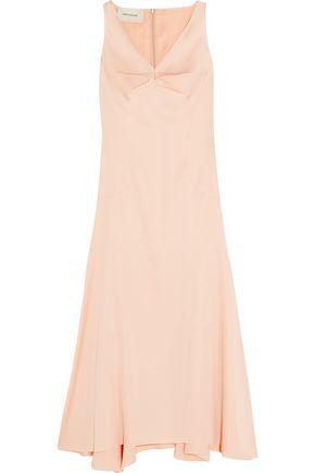 CEDRIC CHARLIER Asymmetric satin dress